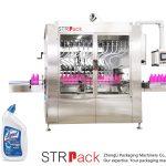 Açılı boyunlu şişe sıvı dolum makinası