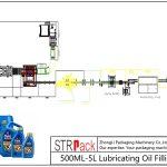 Otomatik 500ML-5L Yağlama Yağı Dolum Hattı