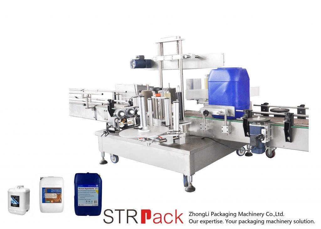 5-25L varil için Otomatik Çift Taraflı Etiketleme Makinesi