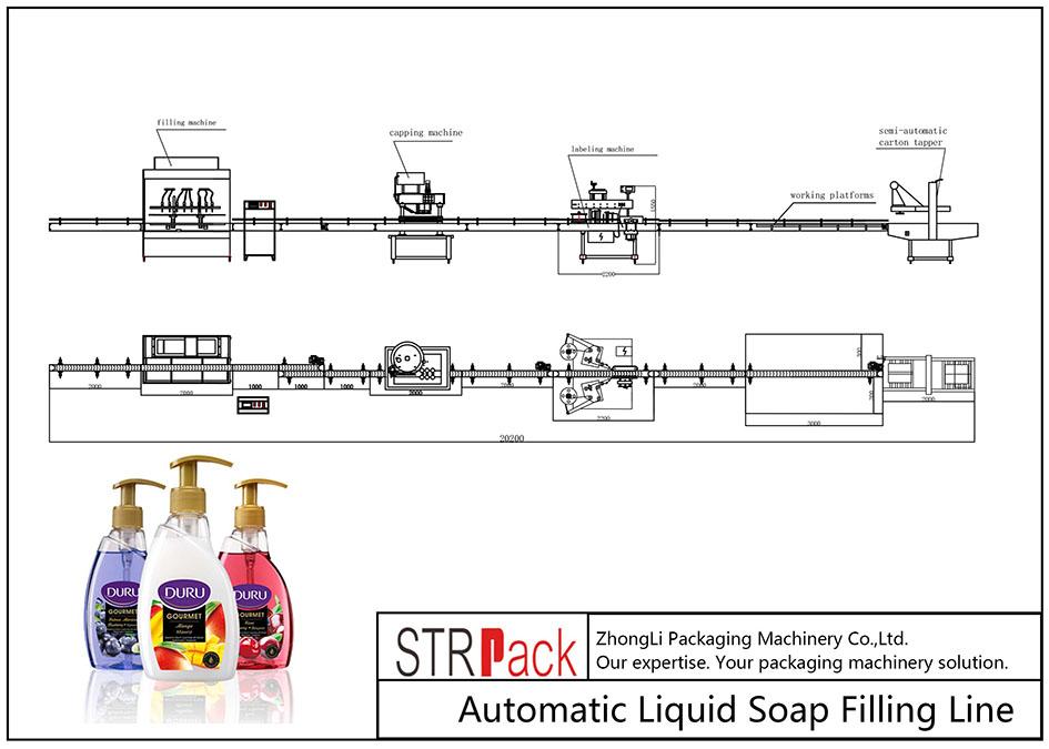 Otomatik Sıvı Sabun Dolum Hattı