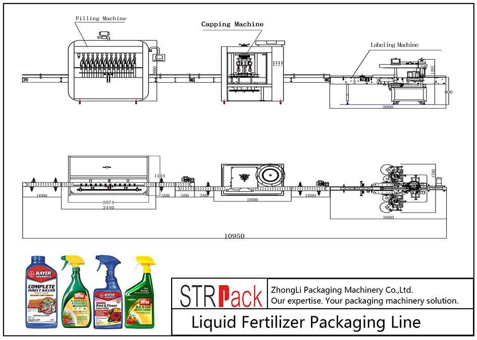 Otomatik Sıvı Gübre Paketleme Hattı